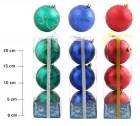 Набор шаров Д=8см*3шт., 6цв., матовый с узором, в ПВХ Е 91326