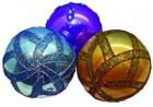 Набор шаров Д=10см*2шт., перламутр с полосами в ПВХ Е 92261