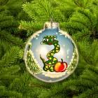Шар Д=6,5см, Змея с яблоком К-65-706