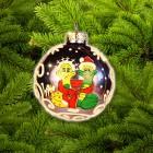 Шар Д=6,5см, Змея Дед Мороз и Снегурочка К-65-715