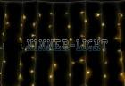 Занавес WN LED 320л, желтый, 3*2м, прозрачный провод, стыкуется, контрол-рычажковый 29/0209
