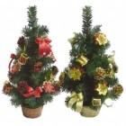 Елка 45см, 4цв., в корзине украш. банты/цветы/подарки/шишки  Е 50751