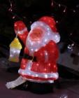Фигура акриловая светодиодная ST Санта Клаус с лампой LED 120л, 46см,провод 5м,IP44 XML-001-E13 0246