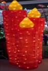 Фигура акриловая светодиодная ST Красные свечи LED 240л, 123см, провод 5м, IP44  XML-001-H14red 0238