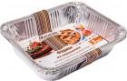 Форма алюминиевая для приготовления и хранения пищи MARMITON 32*26*6,5см, 3шт., прямоугольная 11359