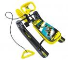 Снегокат НИКА Тимка Спорт-2, 420 мм, высота сиденья 290 мм, Зимний спорт желтый, ТС2