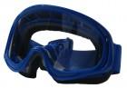Очки YH-01 синие, линза прозрачная, силикон, уплотненные/50