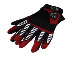 Перчатки ZAM-007 красно-бело-черные, M