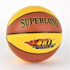 Мяч баскетбольный PU с иглой, красно-желтый, в пакете O680