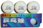 Мячи для настольного тенниса Double Fish 3*, 3шт., ITTF, белый B 111 F