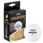 Мячи для настольного тенниса STIGA Master 1*, 40мм*6шт., белый 5140-06