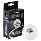 Мячи для настольного тенниса STIGA Winner 2**, 40мм*6шт., белый 5150-06