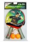 Набор для настольного тенниса START LINE 2 ракетки+3 мяча-Double Fish СК-301