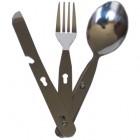 Набор столовых приборов BOYSCOUT 16см, нержавеющая сталь, в чехле (нож, вилка, ложка) 61085