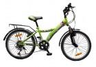 Велосипед 20' хардтейл NOVATRACK RACER тормоз V-brake, зеленый, 12 ск. 20 SH 12 V.RACER. GN 7