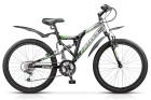 Велосипед 24' двухподвес STELS MUSTANG V синий, 18ск.