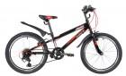 Велосипед 20' хардтейл NOVATRACK RACER черный, тормоз V-brake, 6 ск. 20 SH 6V.RACER.BK 20