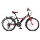 Велосипед 20' хардтейл NOVATRACK RACER тормоз V-brake, черный, 6 ск. 20 SH 6V.RACER.BK 20