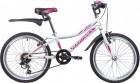 Велосипед 20' хардтейл, рама женская NOVATRACK ALICE V-brake, белый, 6 ск. 20SH6V.ALICE.WT21