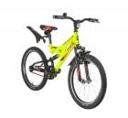 Велосипед 20' двухподвес NOVATRACK SHARK салатовый 20 SS 1V.SHARK.GN 20
