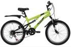 Велосипед 20' двухподвес NOVATRACK TITANIUM салатовый, 6 ск. 20SS6V.TITANIUM.GN20