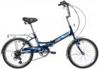 Велосипед 20' складной NOVATRACK TG 30 синий, 6 ск., багажник 20FTG306SV.BL20