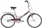 Велосипед 24' складной NOVATRACK TG серый, багажник, сидение комфорт 24FTG1V.GR20