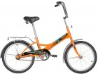 Велосипед 20' складной NOVATRACK TG 20 оранжевый, тормоз нож, двойной обод, багажник 20FTG201.OR20