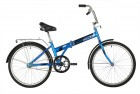 Велосипед 24' складной NOVATRACK синий, тормоз ножной, багажник, крылья 24NFTG1.BL21