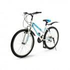 Велосипед 26' хардтейл, рама женская TOPGEAR Style 21 ск, V-brake, крылья белый/синий 16' ВН26431К