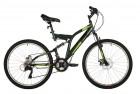 Велосипед 26' двухподвес FOXX FREELANDER зеленый, диск, 18 ск., 18 26SFD.FREELD.18GN1