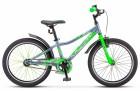 Велосипед 20' хардтейл STELS PILOT-210 Серый/салатовый 2021, 11'  Z010 LU088513