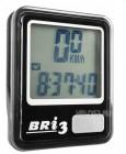 Велокомпьютер BRI-3 серебристый/черный, 10 функций