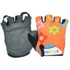 Перчатки детские TBS 223-1 S/M (7,8*12,5см), микрофибра, оранжевые с цветами 90082