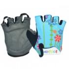 Перчатки детские TBS 223-4 L/XL (8,2*13см), микрофибра, голубые с цветами 90099