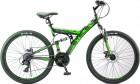 Велосипед 26' двухподвес STELS FOCUS MD диск, черный/зеленый 21 ск., 18' V010