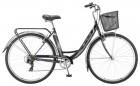 Велосипед 28' городской, рама женская STELS NAVIGATOR-395 черный, 7ск., 20' + корзина Z010
