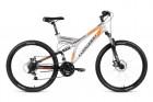 Велосипед 26' двухподвес FORWARD RAPTOR 26 2.0 disc серый\черный, 21 ск., 18' RBKW8S6Q002 (19)