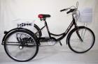 Велосипед 24' Иж-Байк Фермер 24' черный, +корзина-2шт., 6 ск.