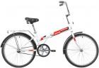Велосипед 24' складной NOVATRACK белый, TG,тормоз нож, двойной обод, багажник 24NFTG1.WT20