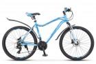 Велосипед 26' рама женская, алюминий STELS MISS-6000 D диск, голубой, 21 ск., 17' V010 LU083853