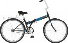 Велосипед 24' складной NOVATRACK черный, тормоз ножной, багажник, крылья 24NFTG1.BK21