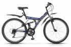 Велосипед 26' двухподвес STELS FOCUS V черный/синий, 18 ск., 18'