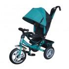 Велосипед 3х-колесный Formula-3 12'/10', своб. ход пер. колеса, тормоз, накл.спин., сумка, зел. FA3G