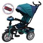 Велосипед 3х-колесный SUPER FORMULA 12'/10',фара св./зв. эф.,св. ход колеса,сид. 180гр,зеленый SFA3G