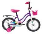 Велосипед 14' NOVATRACK TETRIS фиолетовый+ корзина 141 TETRIS.VL 20