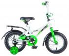 Велосипед 12' NOVATRACK STRIKE белый-зелёный 123STRIKE.WTG20