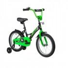 Велосипед 16' NOVATRACK STRIKE черный-зелёный 163STRIKE.BKG20