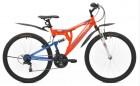 Велосипед MAVERICK 26' двухподвес, S 13 оранжевый-синий, 21 ск.