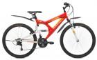 Велосипед MAVERICK 26' двухподвес, S 15 красный-белый, 21 ск.